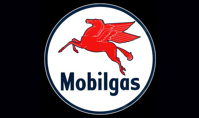 mobilgas ceramic/steel sign by garageart.com