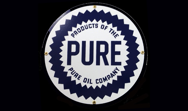 pure oil ceramic/steel sign by garageart.com