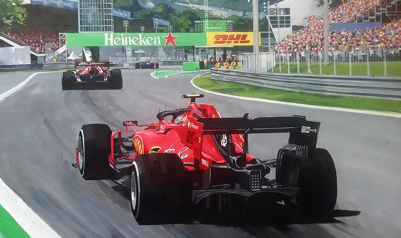 Ferrari Leclerc at Monza