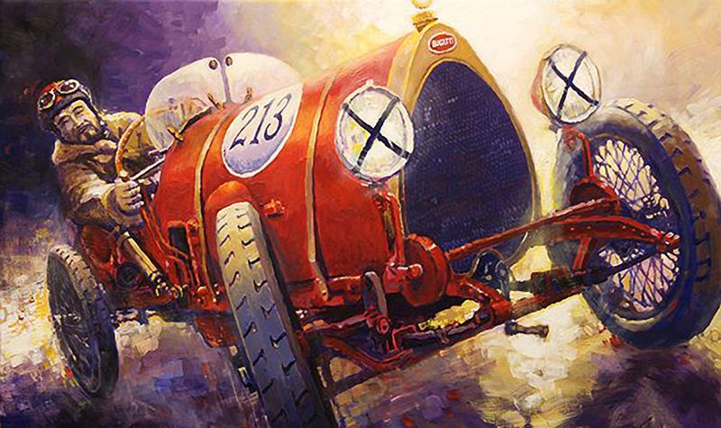 1922 Bugatti Type 13 Brescia/Motorsport art by Yuriy Shevchuk