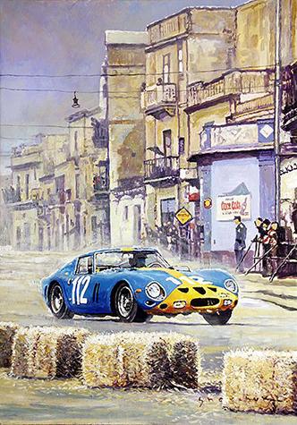 1964 Targa Florio Ferrari 250 GTO Norinder Troberg/Motorsport art by Yuriy Shevchuk