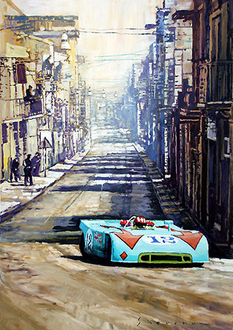 1970 Targa Florio Porsche 908 3 Siffert Redman/Motorsport art by Yuriy Shevchuk
