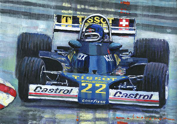 1977 Monaco GP Ensign Ford N177 Jacky Ickx/Motorsport art by Yuriy Shevchuk