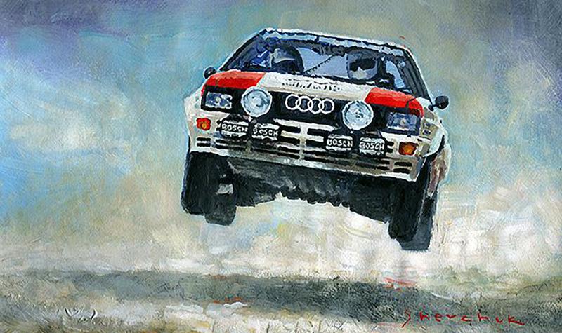 1982 Audi Quattro Gr4/Motorsport art by Yuriy Shevchuk