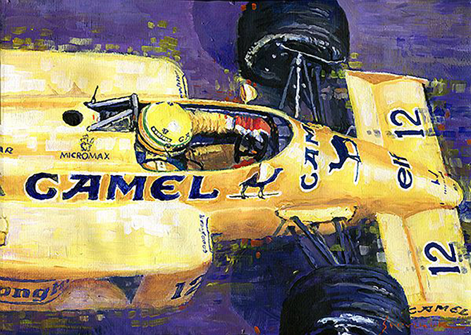 1987 SPA Francorchamps Lotus 99T Ayrton Senna/Motorsport art by Yuriy Shevchuk
