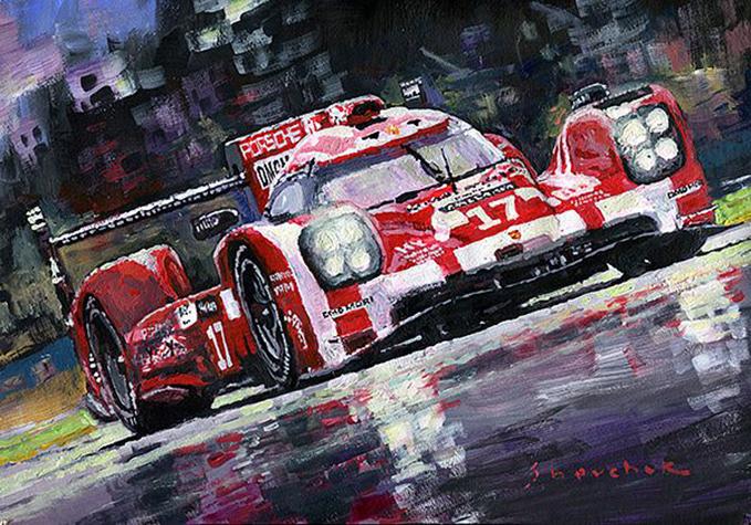 2015 Le Mans 24H Porsche 919 Hybrid/Motorsport art by Yuriy Shevchuk