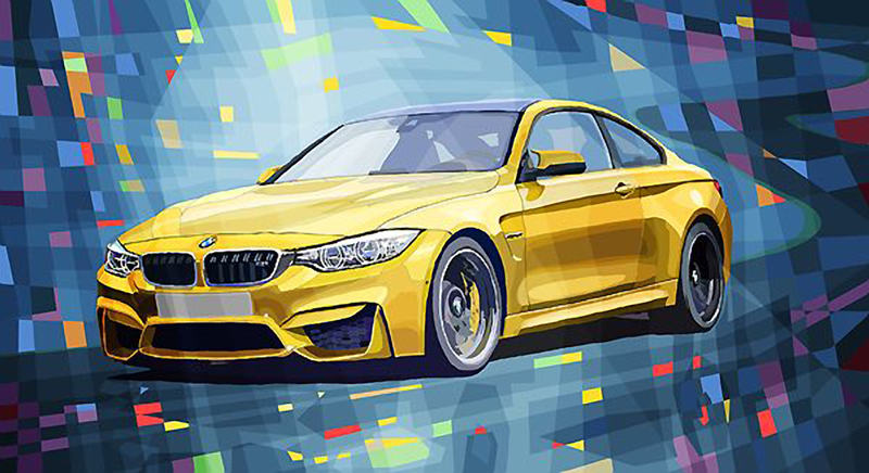 BMW M4/Motorsport art by Yuriy Shevchuk