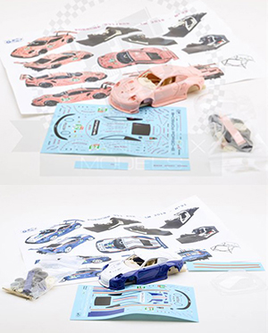 pink pig + 956 tribute 1:43 kits by jps