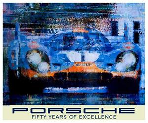 porsche racing poster of gulf 917